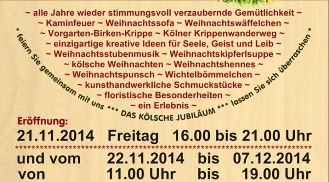 1. Kölner Wohnzimmer Weihnachtsmarkt 2014