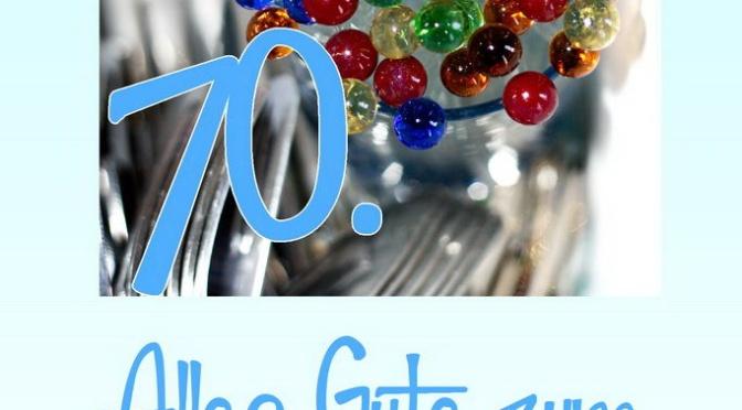 Zum 70 Geburtstag: Geburtstagskarten, Einladung und Danksagungskarten