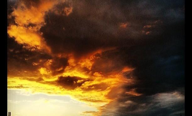 Sonnenuntergang über Köln  Rodenkirchen