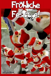 Kostenlose Weihnachtskarten mit Weihnachtsmann und Schneemann